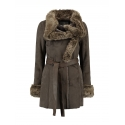 Rino & Pelle manteau grand col fourrure