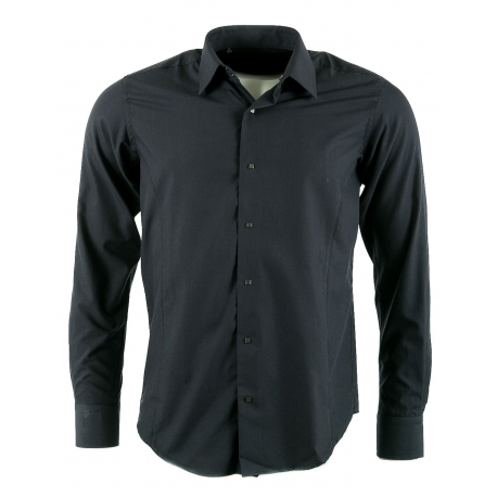 chemise homme style Lagerfeld grise