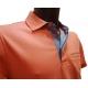 Polo Stil Park manches courtes col chemise orange