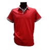 Polo Stil Park manches courtes col chemise rouge