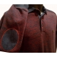 Polo Stil Park chiné bordeaux manches longues-My Dressing