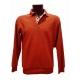 Polo Stil Park brique manches longues col chemise-MyDressing