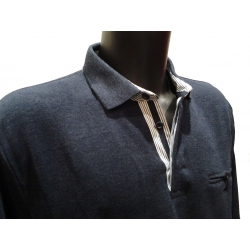 Stil Park poloshirt denim color long sleeves