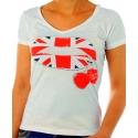 T-shirt femme Le Temps-des-Cerises Tea Berry écru