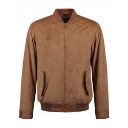 Rino & Pelle-Blouson zippé en suédine couleur camel clair 2 poches