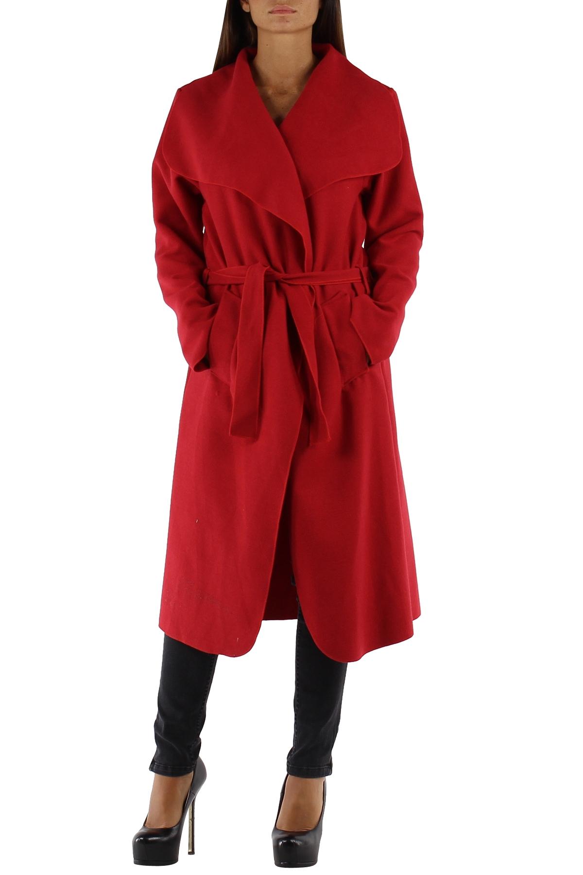 Manteau femme noir col chale