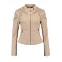 Rino & Pelle veste de printemps cuir ajouré coloris beige
