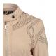Rino & Pelle-Blouson de printemps cuir ajouré coloris beige-My Dressing