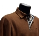 Polo Stil Park camel manches longues col carreaux-My Dressing