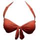 Dagadom maillot 2 pièces bandeau rouge et kaki-My Dressing
