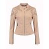 Rino & Pelle veste de printemps cuir ajouré coloris blush