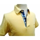 Polo Stil Park jaune manches courtes col carreaux-My Dressing