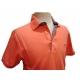 Polo homme Stil Park orange manches courtes col fleurs-My Dressing