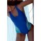 Ocean Wear Maillot de bain 1 pièce bleu dos nageur