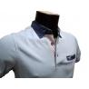 Polo homme Stil Park bleu ciel manches courtes à poche poitrine col jeans-My Dressing