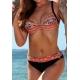 Maillot 2 pièces femme Ocean Wear forme soutien gorge noir et orange-My Dressing