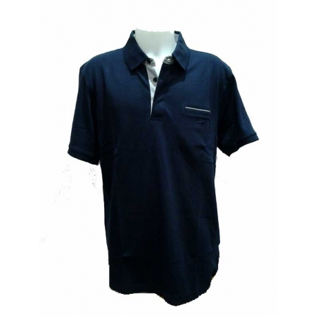 07a22b9f40 Polo homme Stil Park grande taille manches courtes bleu-My Dressing