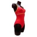Ocean Wear Maillot de bain une pièce coloris rouge corail
