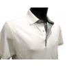 Polo Stil Park blanc manches courtes col chemise-My Dressing