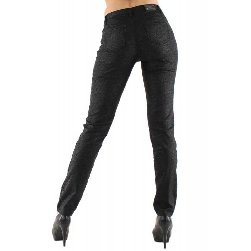 f1dd6763a35f7 Jeans noir satiné motif Cashmire-My Dressing. Loading zoom