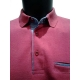 Polo homme Stil Park framboise manches longues poche poitrine-My Dressing