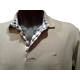 Polo Stil Park beige manches longues col carreaux-My Dressing