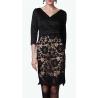Sweet Miss robe de soirée noire avec jupe crayon en macramé