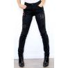 Onado jeans femme slim noir décoré-My Dressing