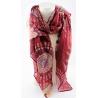 écharpe rouge en viscose motifs hippie-My Dressing