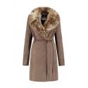 Rino & Pelle manteau long grand col fourrure