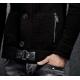 LCR-Gilet homme noir à boutons et poches