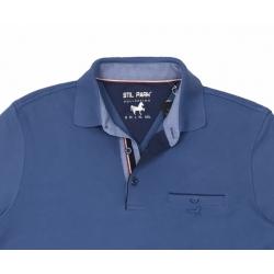 Stil Park-polo homme bleu fonce avec poche-My Dressing