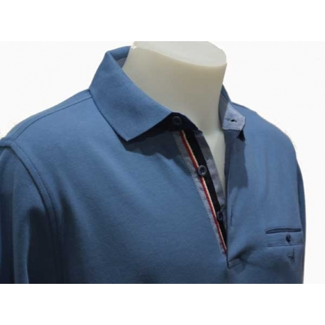 Stil Park-polo homme bleu Jeans avec poche-My Dressing