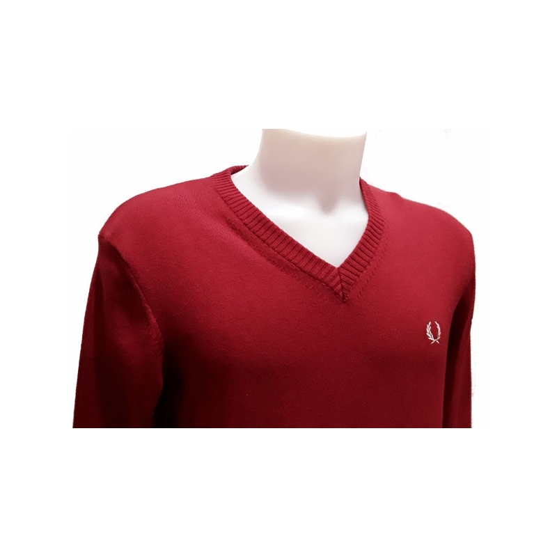 Pull homme Fred Perry homme Col V 100% coton. Loading zoom 6d71e5e0b3e9