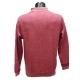 Polo homme marque Stilpark rouge chiné maille grattée