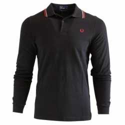 Polo homme Fred Perry noir maille piquée