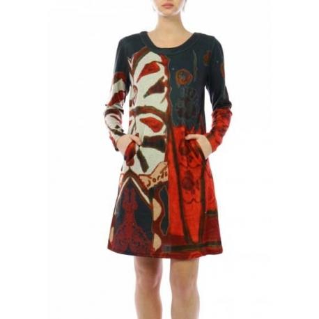 Robe Lulu H rouge courte