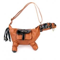 Handbag in the shape of a horse