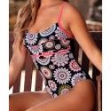 Ocean Wear maillot femme 1 pièce noir motifs mandala