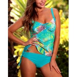 Maillot de bain tankini Ocean Wear imprimé Tropiques