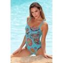 Maillot 1 pièce femme mandalas turquoise Ocean Wear