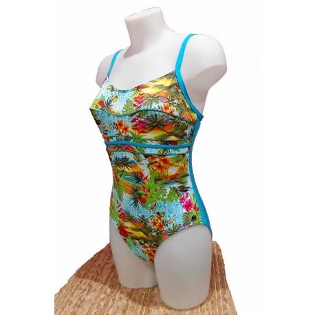 Ocean Wear Maillot de bain 1 pièce multicolore Tropical