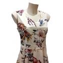 Robe Sweet Miss vintage style Audrey Hepburn fleuries fond beige