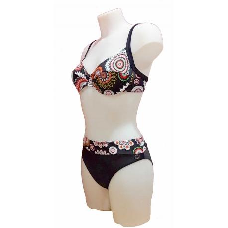 Maillot 2 pièces femme Ocean Wear forme soutien gorge noir mandalas-My Dressing