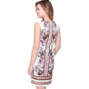 Robe Sweet Miss coupe ajustée blanche fleuries-My Dressing