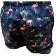 Maillot de bain homme marine motifs flamants roses