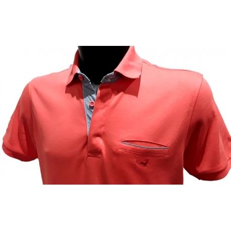 Stil Park polo manches courtes col chemise madarine avec poche-My Dressing