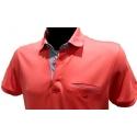 Stil Park polo manches courtes col chemise madarine avec poche