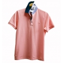 Polo Stil Park manches courtes rose col marine cheval
