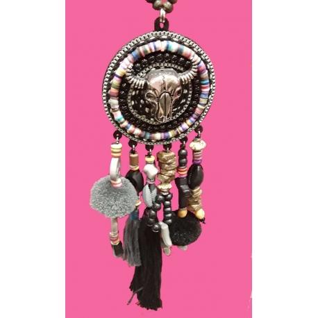 collier sautoir tête de buffle-My Dressing